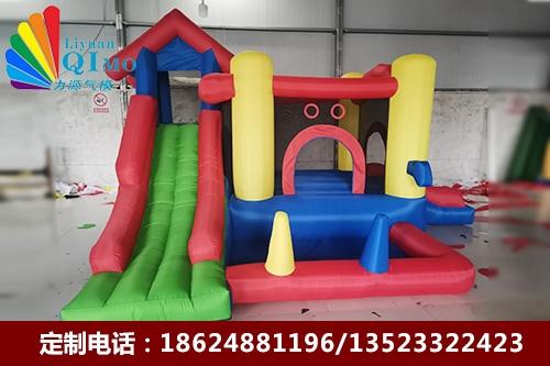 安徽儿童城堡蹦床三角双滑梯充气蹦床